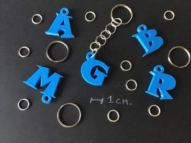 3d letters for keychain and more 3D Print 253752