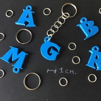 Small 3d letters for keychain and more 3D Printing 253752