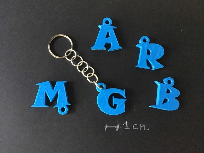 3d letters for keychain and more 3D Print 253754