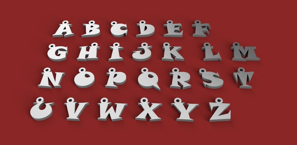 3d letters for keychain and more 3D Print 253756