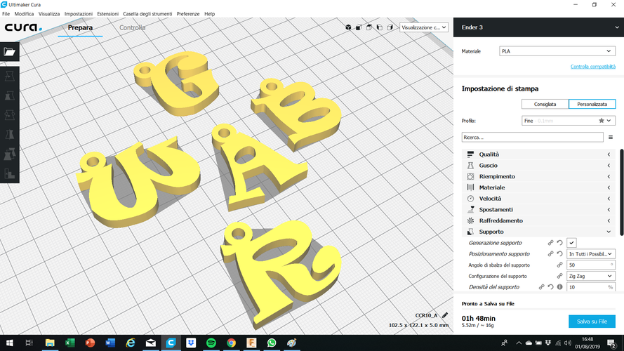 3d letters for keychain and more 3D Print 253757