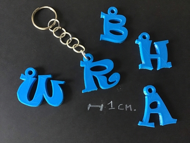 3d letters for keychain and more 3D Print 253759