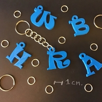 Small 3d letters for keychain and more 3D Printing 253761