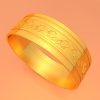 Small Wedding Gold Ring KTWR03 3D Printing 253763
