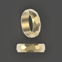 Small Rock ring 3D Printing 253774