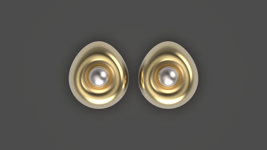 Egg earrings 3D Print 253778