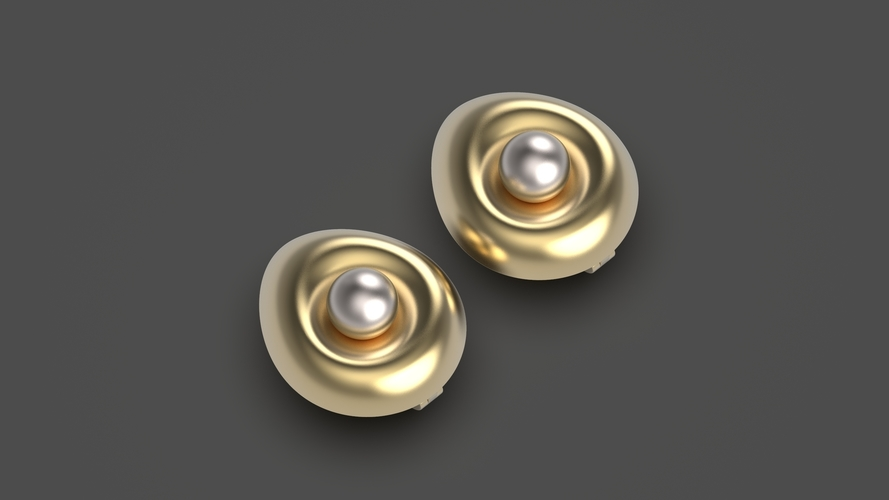 Egg earrings 3D Print 253780
