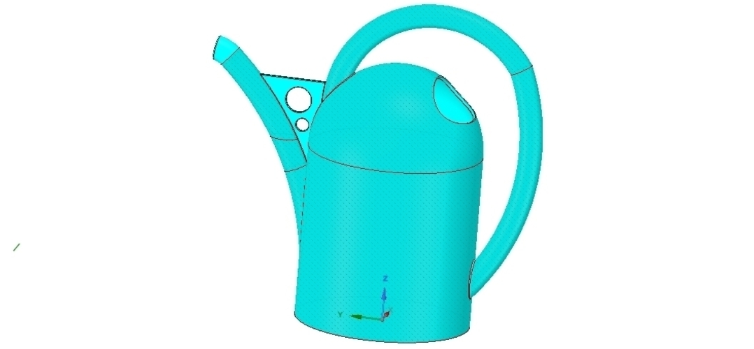 handle watering can for flowers v01 3d-print and cnc 3D Print 253908
