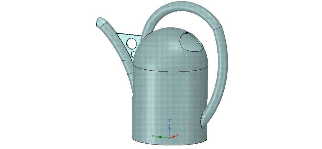 handle watering can for flowers v01 3d-print and cnc 3D Print 253909