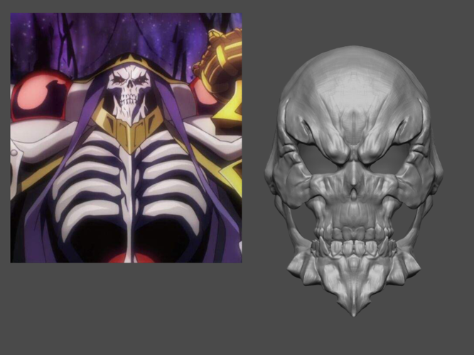 Ainz Ooal Gown Mask from OverLord - Fan Art for cosplay 3D Print 253997