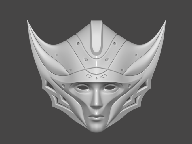 Princess Kushana Mask Cosplay 3D print model 3D Print 254062