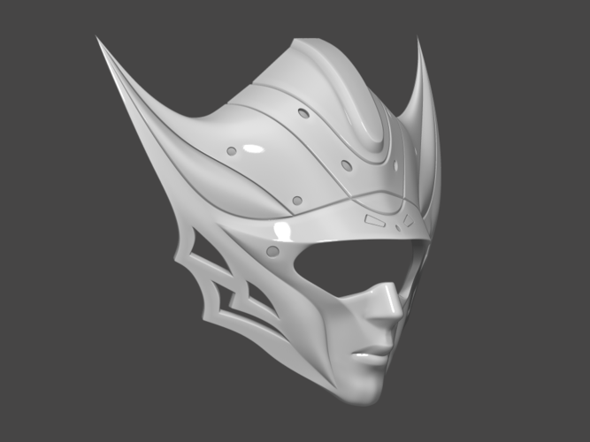 Princess Kushana Mask Cosplay 3D print model 3D Print 254063
