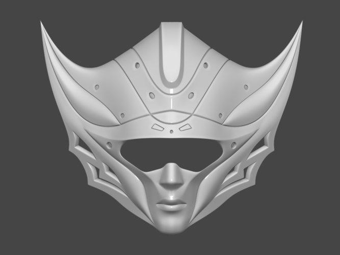Princess Kushana Mask Cosplay 3D print model 3D Print 254065