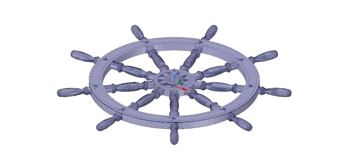 Ships Steering Wheel v03 for 3d-print and cnc 3D Print 254089