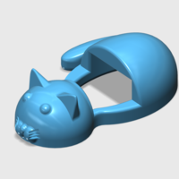 Small Smartphone Stand Cat 3D Printing 254170