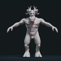 Small Demon figure 3D Printing 254307