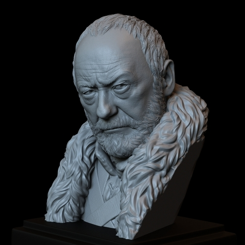 Davos Seaworth #GameOfThrones Portrait, Bust, 200mm 3D Print 254346