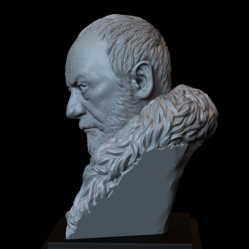 Davos Seaworth #GameOfThrones Portrait, Bust, 200mm 3D Print 254347