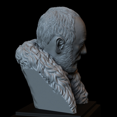 Davos Seaworth #GameOfThrones Portrait, Bust, 200mm 3D Print 254349