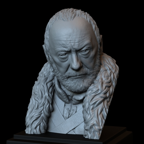 Davos Seaworth #GameOfThrones Portrait, Bust, 200mm 3D Print 254351