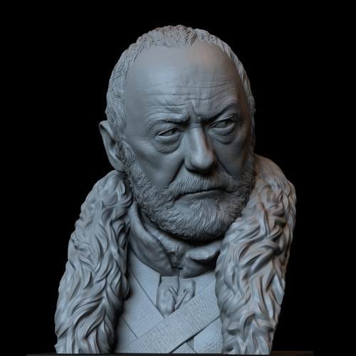 Davos Seaworth #GameOfThrones Portrait, Bust, 200mm 3D Print 254352