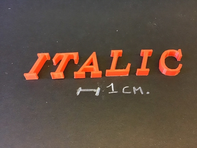 ITALIC font uppercase 3D letters STL file 3D Print 254372