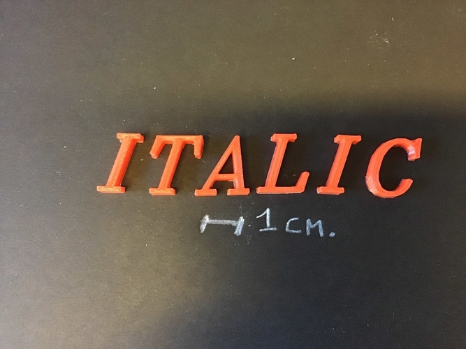 ITALIC font uppercase 3D letters STL file 3D Print 254373