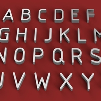 Small GOST font uppercase 3d letters STL file 3D Printing 254390