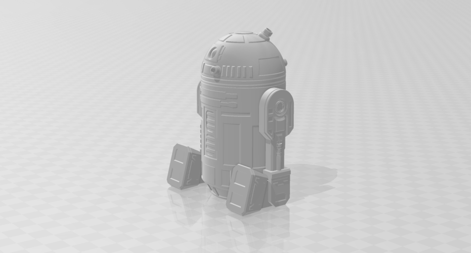 3D Printed r2-d2 robots re-designed with moveable parts in