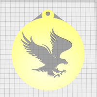 Small Eagle keychain 3D Printing 254466