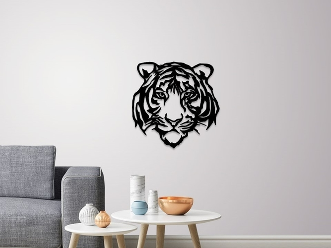 Tiger face wall decoration 3D Print 254467