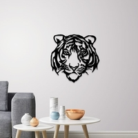 Small Tiger face wall decoration 3D Printing 254467