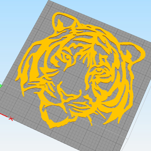 Tiger face wall decoration 3D Print 254468