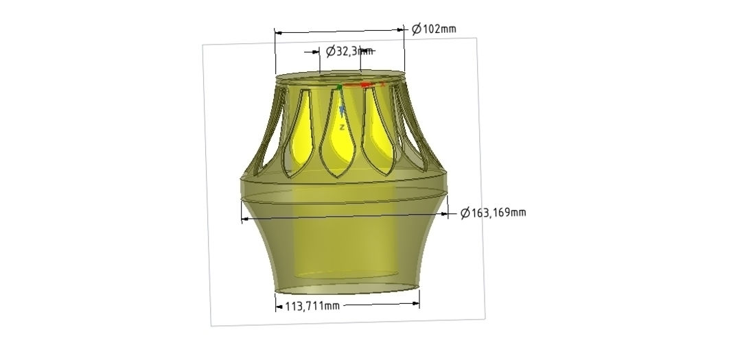 Lights Lampshade for real 3D printing  3D Print 254507