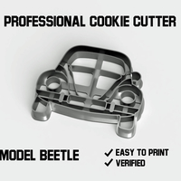 Small Beetle car cookie cutter 3D Printing 254537