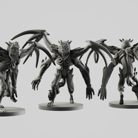 Small Darkness' elemental demon 3D Printing 254543