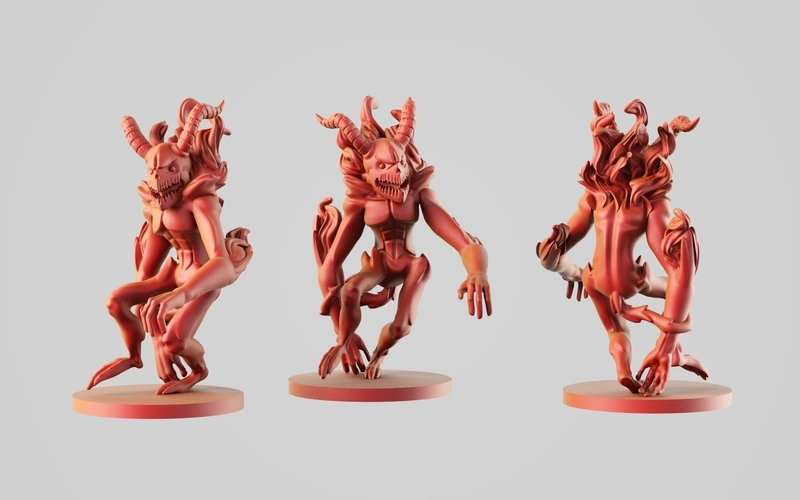 Fire's Elemental Demon  3D Print 254553