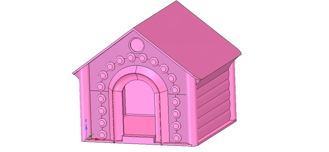 doghouse cathouse housekeeper for real 3D printing  3D Print 254655