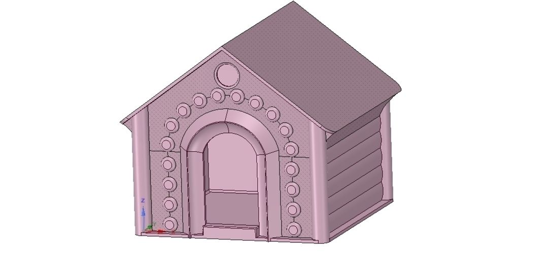 doghouse cathouse housekeeper for real 3D printing  3D Print 254656