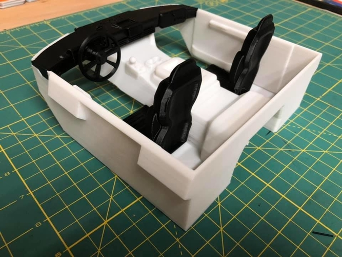 TRX4 Sport Interior w/Inline LCG Battery and Electrics 3D Print 254713