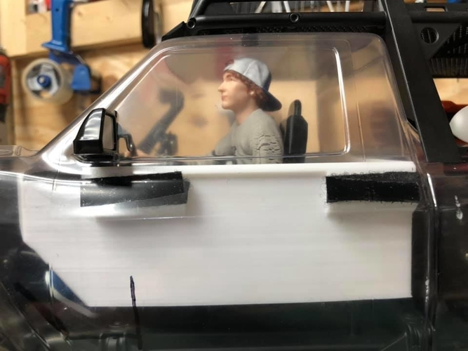 TRX4 Sport Interior w/Inline LCG Battery and Electrics 3D Print 254715
