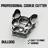 Small Bulldog cookie cutter 3D Printing 254745