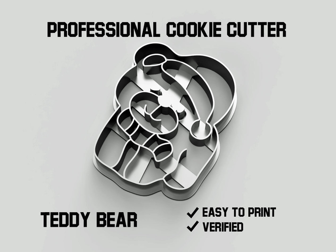 Teddy bear cookie cutter 3D Print 254747