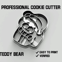 Small Teddy bear cookie cutter 3D Printing 254747