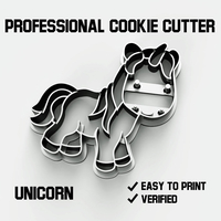 Small Unicorn cookie cutter 3D Printing 254750