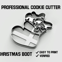 Small Christmas boot cookie cutter 3D Printing 254752