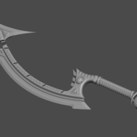 Small Project Diana Sword from league of legends - Fan Art 3D Printing 254784