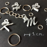 Small 3d letters for keychain and more 3D Printing 254832