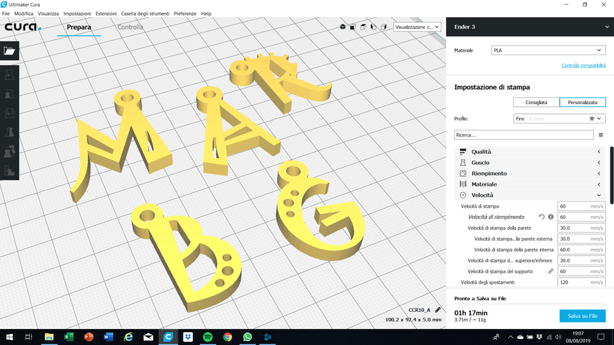 3d letters for keychain and more 3D Print 254838