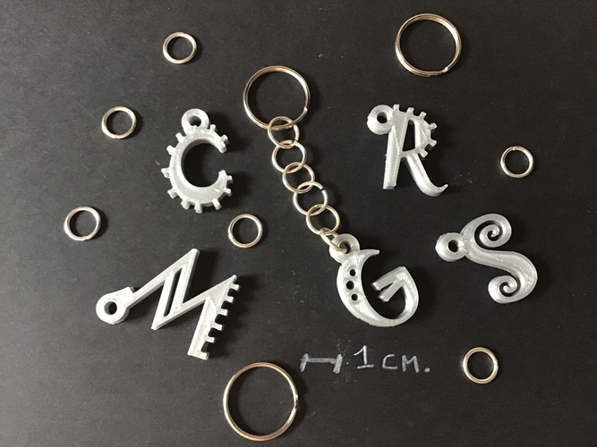 3d letters for keychain and more 3D Print 254839